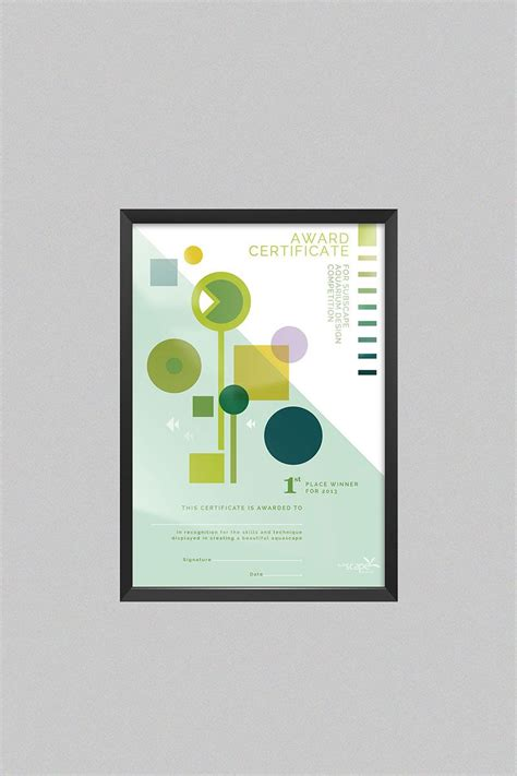 award certificate van le certificate design graphic design
