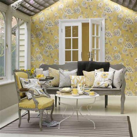 yellow grey living room housetohome