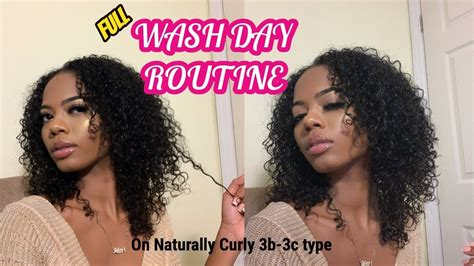 wash day routine naturally curly hair 3b 3c