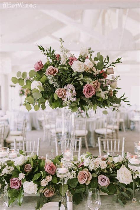 elegant garden wedding shades purple wedding floral centerpieces