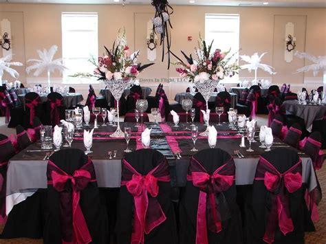 pink black white wedding ideas black hot pink