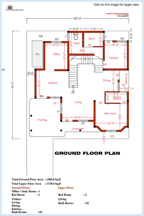 3 bedroom home plan elevation kerala home