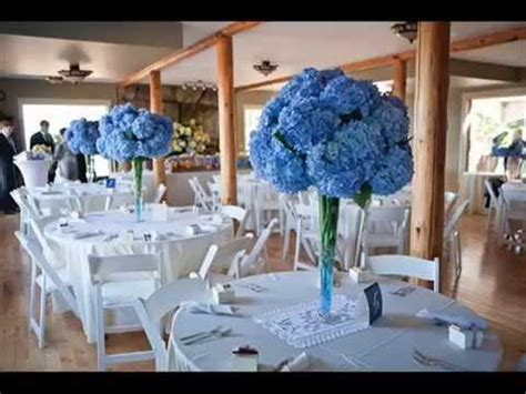 diy blue wedding table decoration ideas youtube