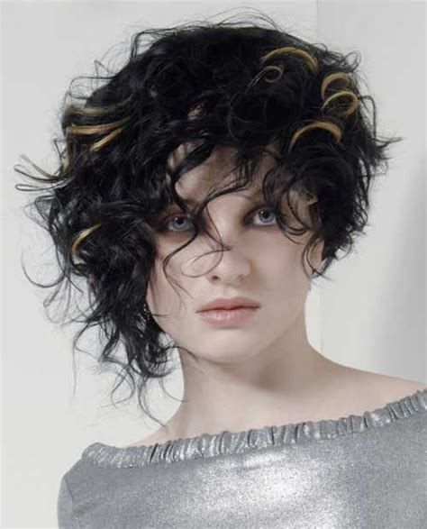 asymmetrical short curly hair styles 2018 2019 short