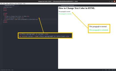 change text color html