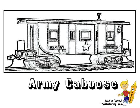 ironhorse army train coloring pages yescoloring free military