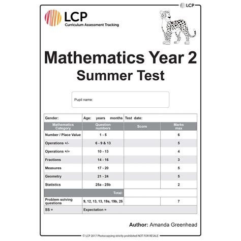 maths summer year 2 class pack 30 papers