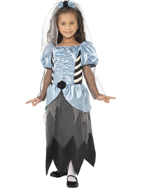 spooky halloween bride girls fancy dress costume child