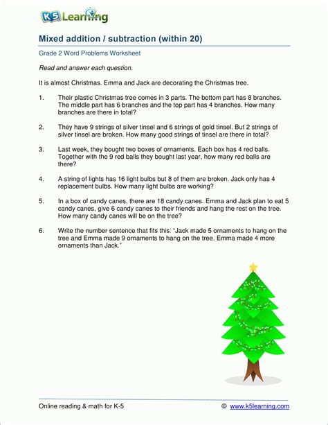 2nd gade mixed addition subtraction word problems worksheets