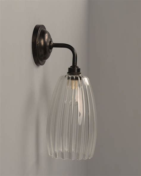 upton ribbed glass contemporary bathroom light fritz fryer