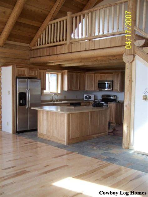 small cabin homes lofts log cabin loft kitchen