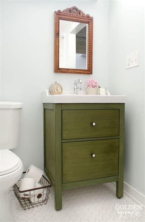 ikea bathroom vanity update update golden sycamore