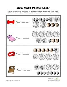 learning count coins worksheets coins count