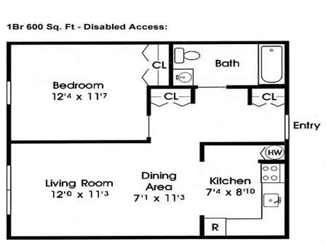 600 sq ft home floor plans 600 sf