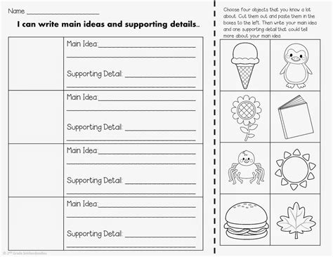 2nd grade snickerdoodles main idea supporting details