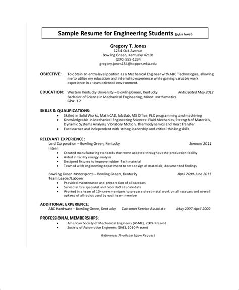 9 engineering resume templates doc free premium templates