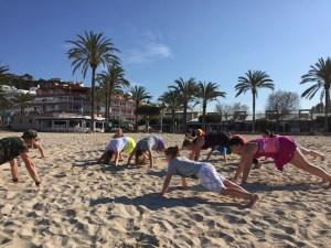 Fitness am Strand