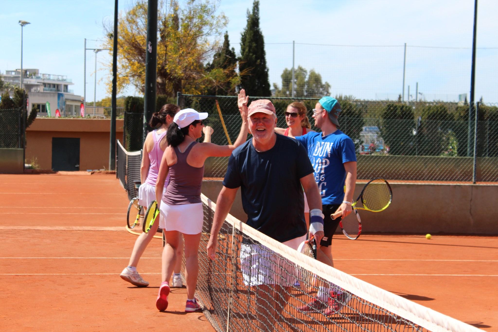 Training Mallorca, abschlagen nach dem Training