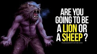 Are You Going To Be A LION or a SHEEP? ? BEAST MODE SPEECH ? Fitness center Motivation!