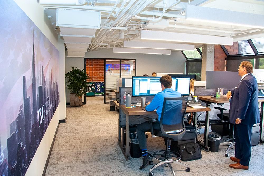 TSG Wealth Management Newport Beach Trading Floor
