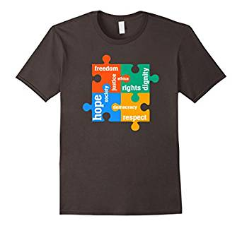 Activist Civil Rights T-shirt Puzzle Style T-shirt