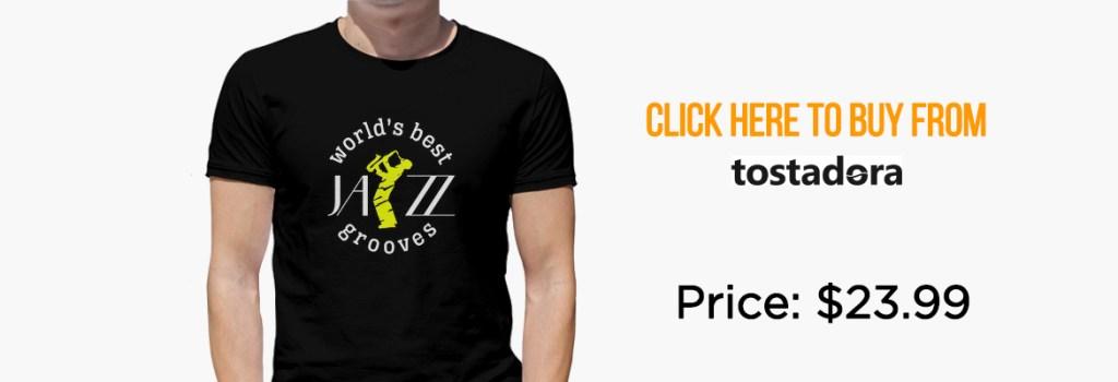 T-shirt Cool Jazz Saxophone Musician