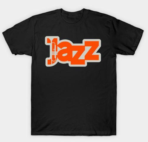 Jazz Creative Typographic Style T-Shirt