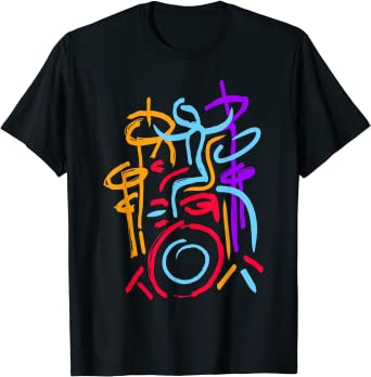 Fancy Drummer Abstract Style T-Shirt