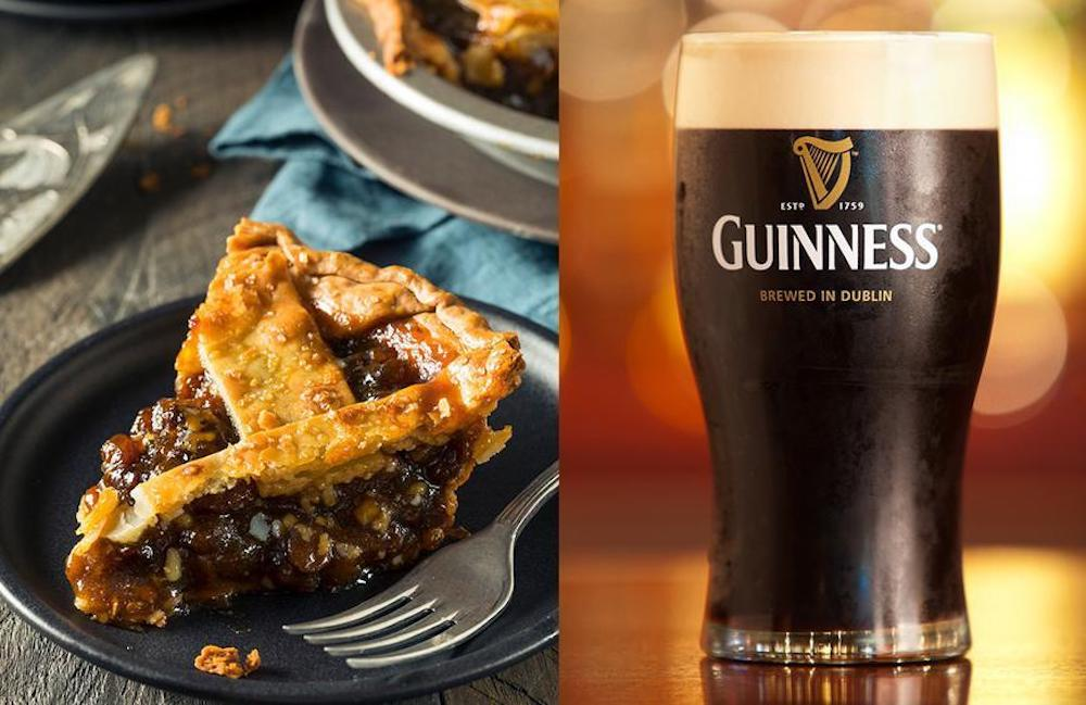Christmas Traditions In Ireland- Left Guinness beer and Mince Pie for Santa