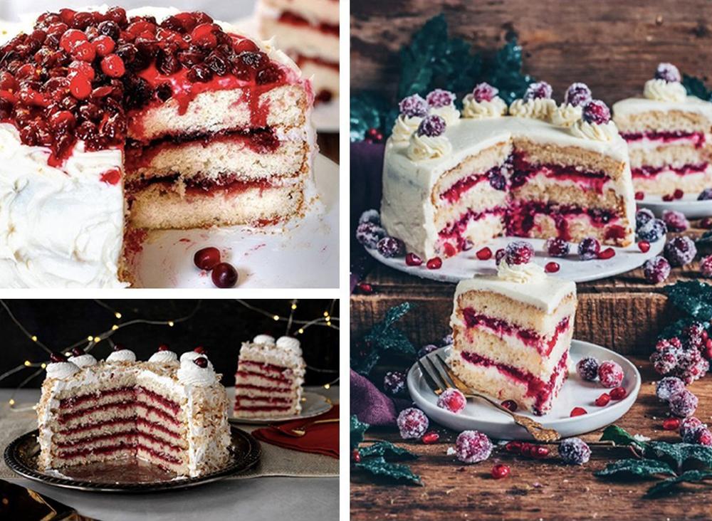 Christmas cranberry layer cake 2