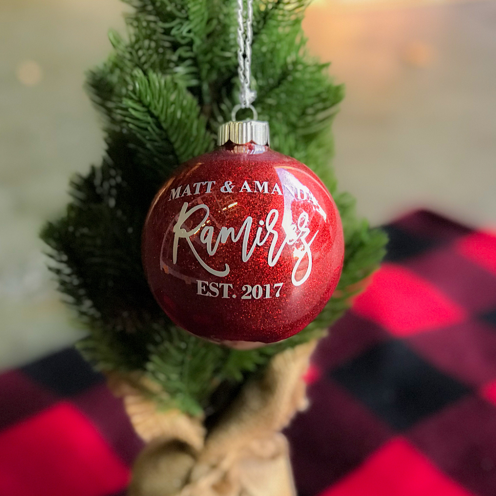 Christmas tree ornaments for newlyweds