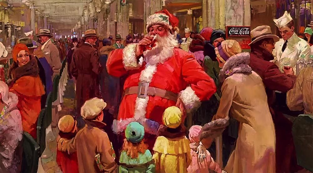 Fun Christmas: Does the image of Santa in red originate from Coca-Cola?