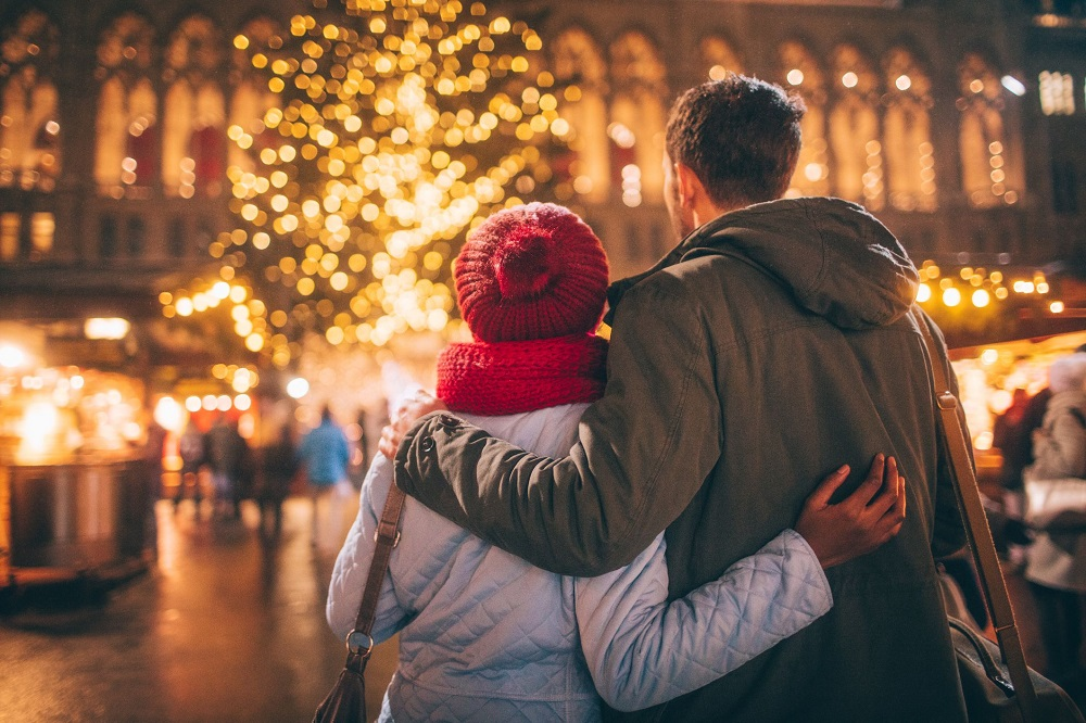 One of the romantic couples Christmas activities is going out to see beautiful Christmas light displays