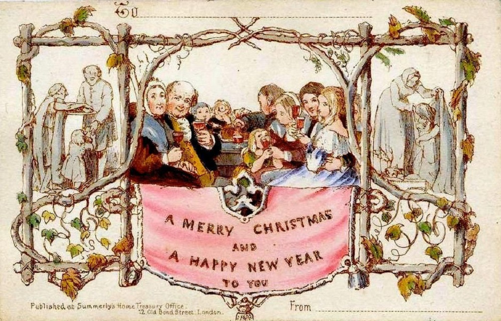 The-first-Christmas-card-See-how-different-it-is-compared-to-Christmas-cards-2020