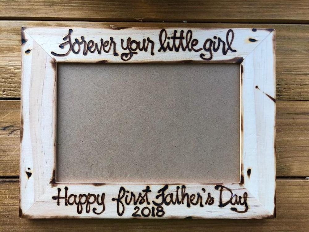 Forever-your-Little-Girl-First-Fathers-Day-Customize-Wood-Adorable-father-day-gift-ideas