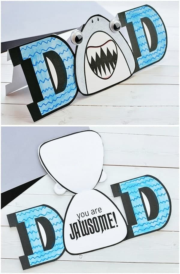 Incredibly-Cute-Paper-Shark-Card-DIY-fathers-day-cards