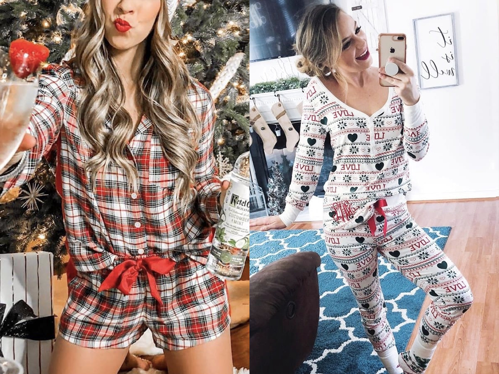 Christmas pajamas are one of the indispensable Christmas outfits
