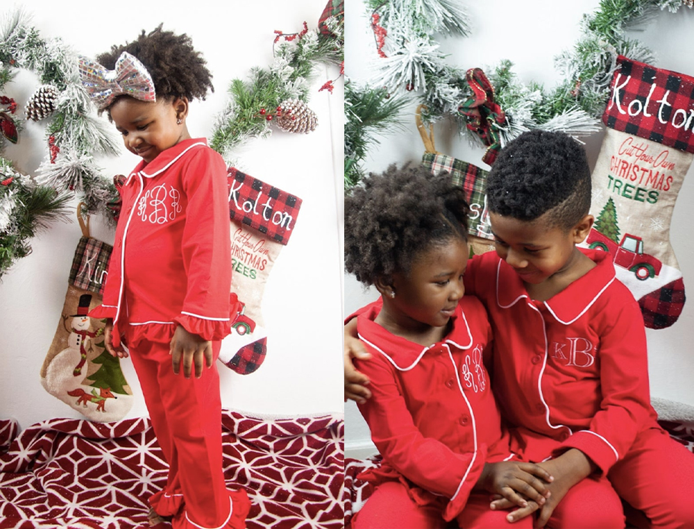 The-Red-Button-Down-PJs-With-Monogram-Cute-Christmas-pyjamas-toddler-girl