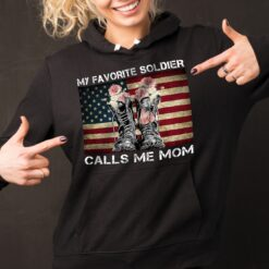 Army Mom Shirt My Favorite Soldier Calls Me Mom Floral Boots US Flag
