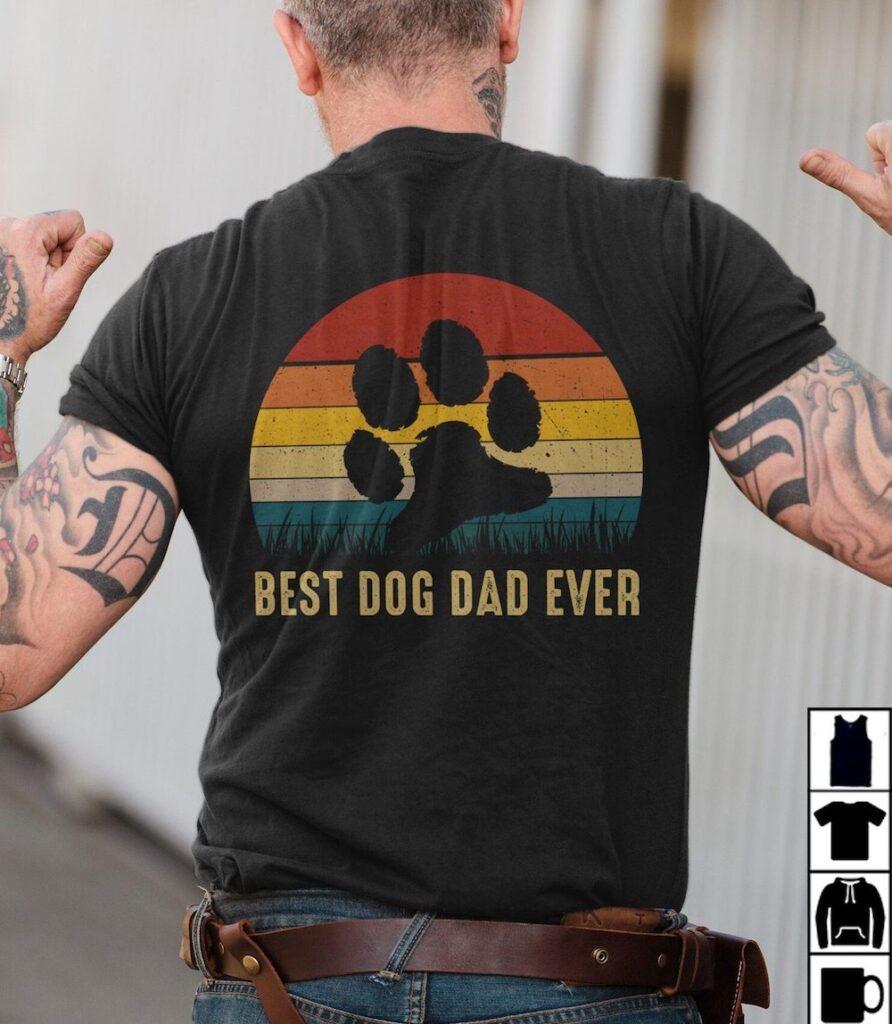 Best-Dog-Dad-Shirt-Best-Dog-Dad-Ever-Vintage-Dog-Paw-best-dad-ever-t-shirt