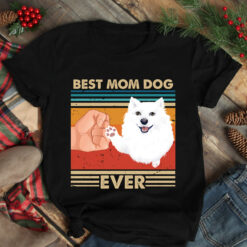 Best Mom Ever Shirt Vintage Best American Eskimo Dog Ever