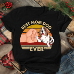 Best Mom Ever Shirt Vintage Best Basset Hound Dog Mom Ever