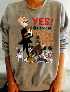Crazy Dog Lady Shirt Yes I'm The Crazy Dog Lady