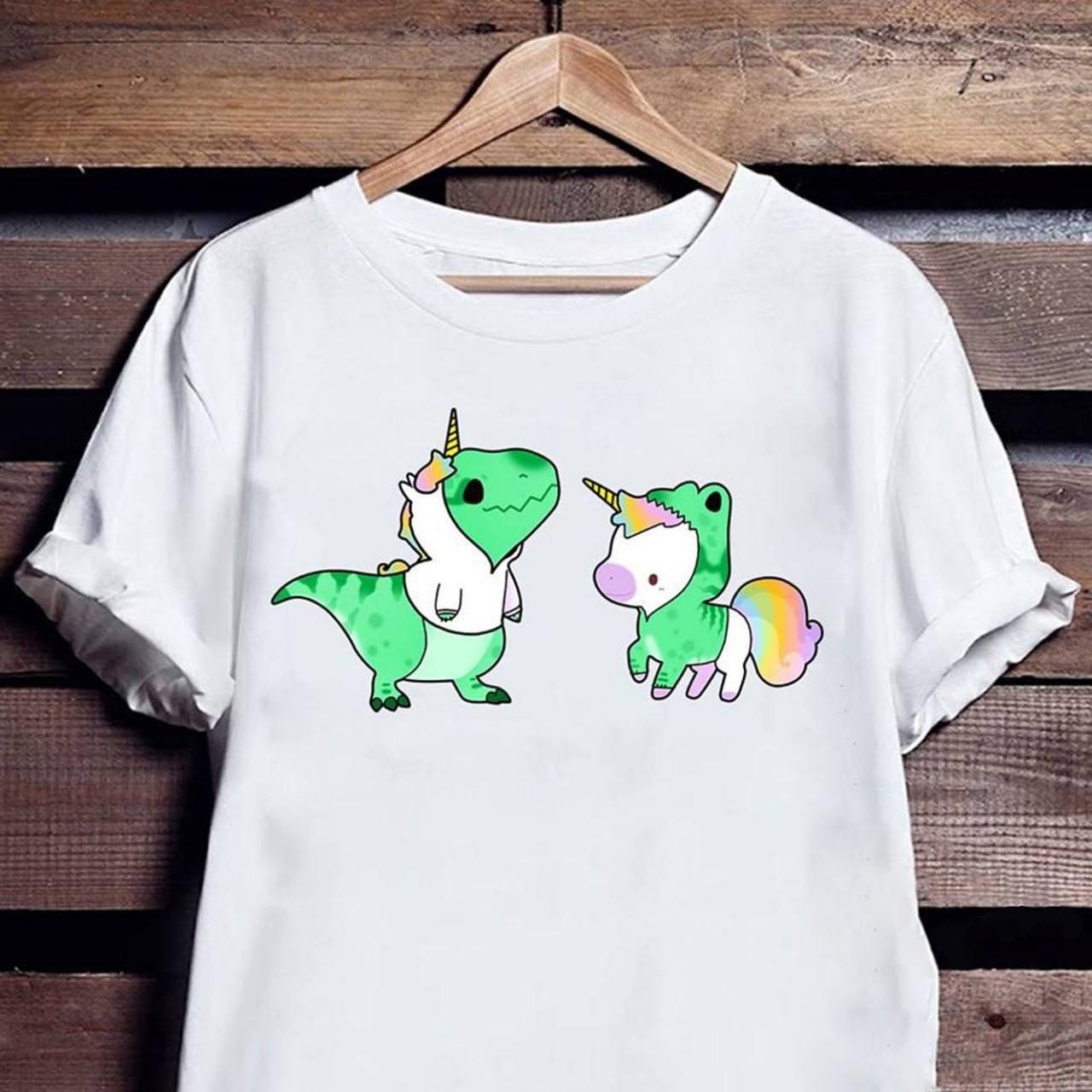 Cute Dinosaur Unicorn Shirt Kid Trexicorn