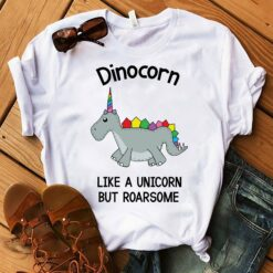 Dinosaur Unicorn Shirt Dinocorn Like A Unicorn But Roarsome