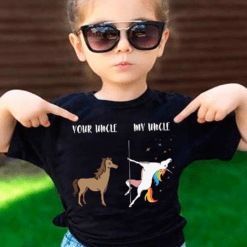 Funny Uncle And Nephew Shirt Horse Unicorn Crazy Uncle
