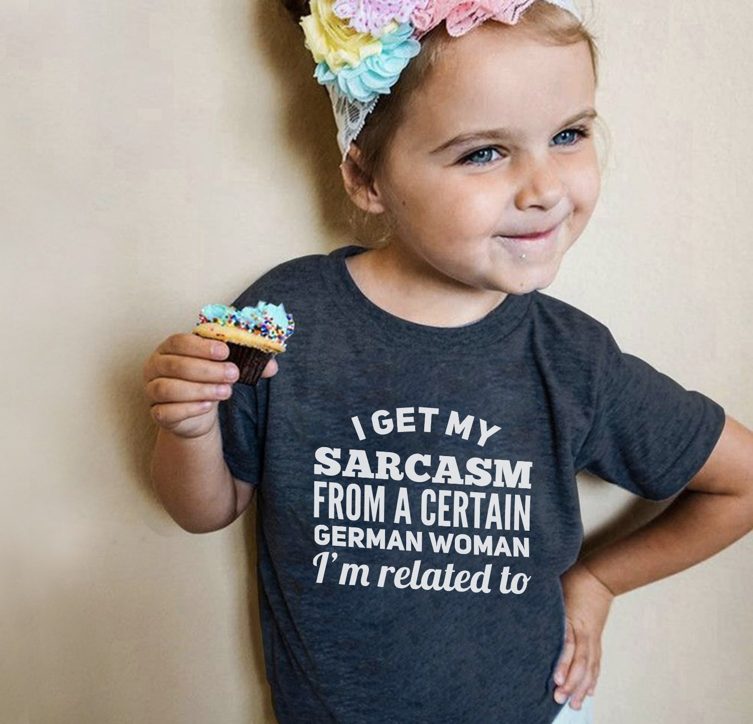 German Shirt I Get Sarcasm From Certain Women I'm Related To