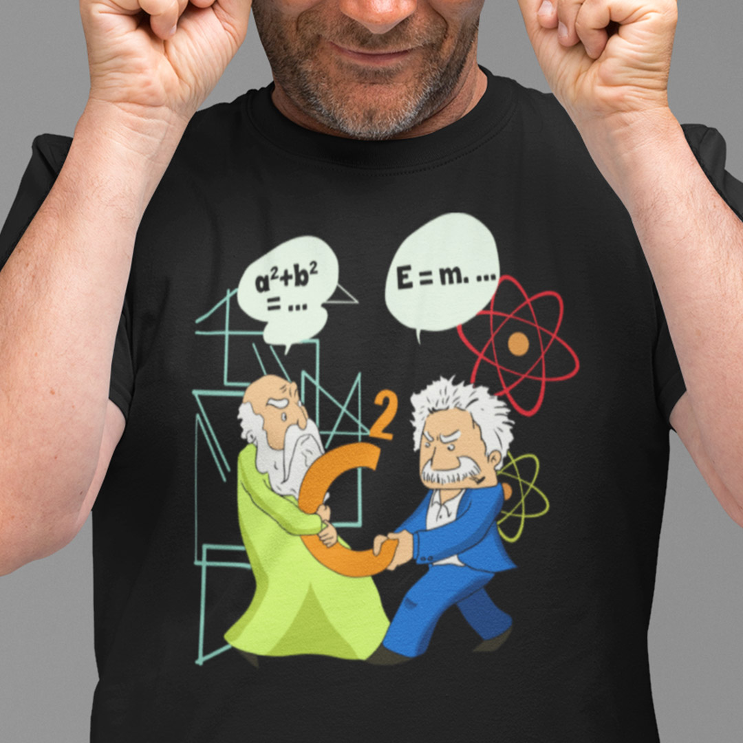 Scientist Shirt Pythagoras Fights Einstein Science Laboratory