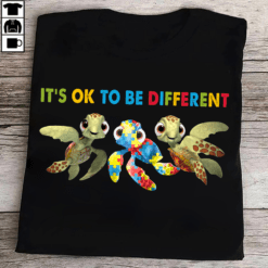 Turtles Autism Shirt It's Ok To Be Different