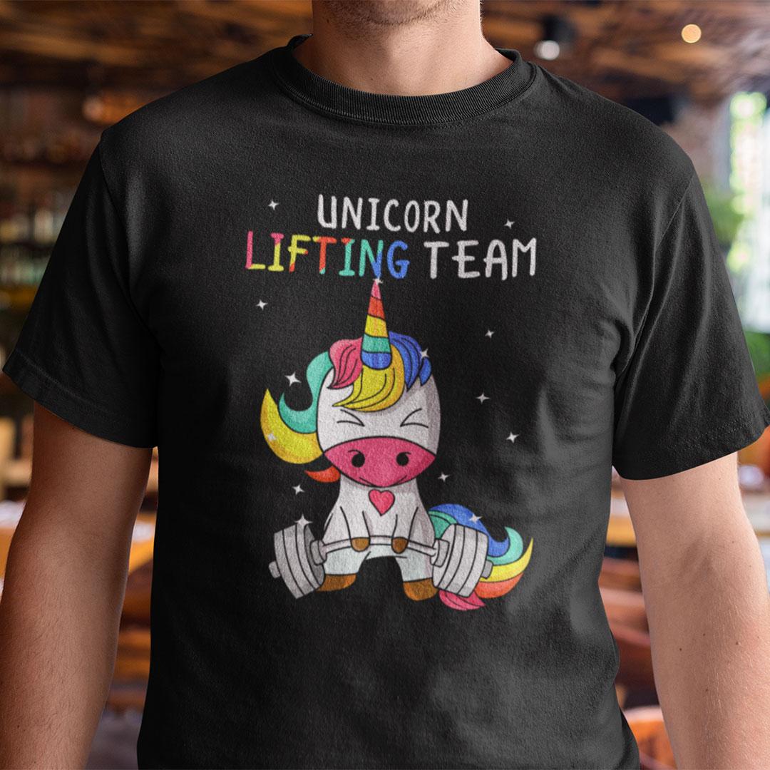 Unicorn Shirt Lifting Team Fitness Weightlifting